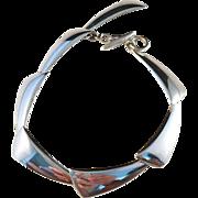 SALE Hermann Siersbol, Denmark Modernist Sterling Silver Bracelet.