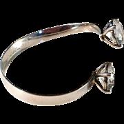 SALE Stunning Bengt Hallberg, signed designer Åke Lindström Sterling Silver Bangle Bracelet