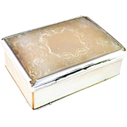 SALE Stunning mid 1700s sterling silver and mother of pearl box. Very rare.