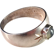 SALE Waldemar Jonsson, 1965 Solid Silver Ring with Moon Stone.