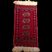 """SALE 1970's Pakistani Bokhara rug 1'0"""" x 2'0"""" Free shipping & appraisal"""