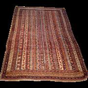 "SALE 1910's Antique Persian Afshar Oriental Rug, Handmade of Wool, 4'0"" x 6 ..."