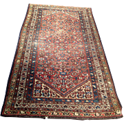 "SALE 1920's Persian Hamedan rug 3'7"" x 6'5"" Free shipping & appraisal"