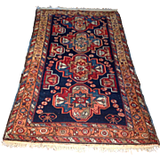 "SALE 1960's Persian Karajeh rug 3'5"" x 6'0"" Free shipping & appraisal"