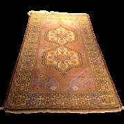 "SALE Antique Turkish rug 3'10"" x 7'7"" Free shipping & appraisal"