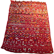 "SALE 1960's Persian Kilim rug 2'7"" x 3'7"" Free shipping & appraisal"