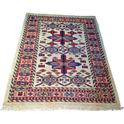 "SALE Semi-Antique Veramin Oriental  Rug , Handmade of wool -3' 9"" x 4' 10"" Free ..."