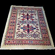 "SALE Semi-Antique Veramin rug 3' 9"" x 4' 10"" Free shipping & appraisal"