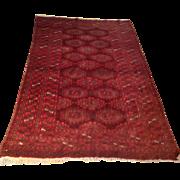 "SALE Semi-Antique Russian Bokara rug 3' 10"" x 6' 4"" Free shipping & appraisal"