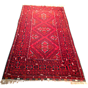 "SALE Afghan Oriental  Rug-handmade of wool on wool foundation- 3' 7"" x 7' 1 ..."