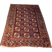 SALE Antique 1890's Russian Bokhara Oriental Rug -Handmade of wool on wool foundation-3 ...