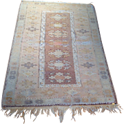 "SALE Semi-Antique Turkish Oriental Rug-handmade of wool- 3' 3"" x 5' 0"" Free ..."