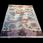 "SALE 1960's Tibetan rug 4' 2"" x 6' 0"" Free shipping & appraisal"