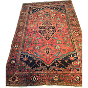 "SALE Beautiful Fine Antique Persian SERAPI Oriental Rug in Rare Size-4'7"" X 7 ..."