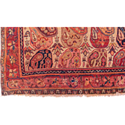 "SALE Unusual Antique, ca. 1910, Persian Malayer Oriental Rug, Boteh-Paisley Design 5'4"" x"