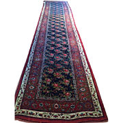 "SALE FABULOUS!!! Antique ca. 1890, N.W. Persian Bijar Oriental Rug Runner-  3'7"" x ..."