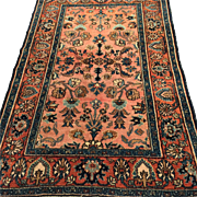 SALE Antique Persian Lillihan Oriental Rug, 5'3 X 6' Vegetable Dyes-Free appraisal and ...