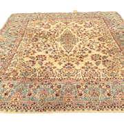SALE Persian Kerman with beautiful design and colors 1930s-hard to find size  11' x ...
