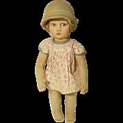 "SOLD Vintage Lenci Cloth Doll 12 1/2"""