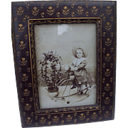 A Charming Late 19th century Decorative Leather Frame
