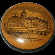 Fine 19th Century Mauchline Ware Pin Cushion