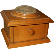 Attractive and Useful Victorian Mauchline Pin Cushion Sewing Box