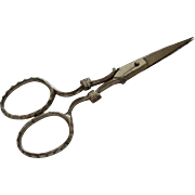 A Useful Pair of Small Victorian Needlework Scissors