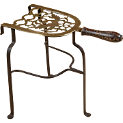 18th-century English Brass Trivet for use next to the fireplace