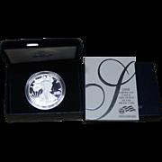 2008-W American Silver Eagle Proof Coin, Original Box & COA