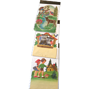 REDUCED 3 vintage embossed calendar toppers