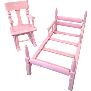 Free ship, Cute Ginny bed and rocker