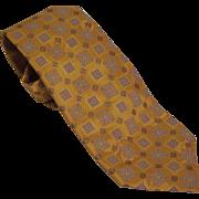 "SOLD Vintage Ermenegildo Zegna Printed Silk tie 3.5"" x 61"" Italy"
