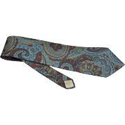 "Men's vintage Christian Dior necktie Silk Paisley Multicolored 3.5"" x 59"""