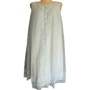 SALE Vintage Shadowline nightgown Sleeveless Powder Blue M Lace flowers