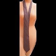 "SALE Men's vintage Hermes'-Paris 3.5 x 62"" Silk Tie red gray Briefcase ..."