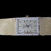 14 karat Gold and Diamond Omega Ladies watch