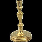 REDUCED 18th Century Queen Anne Brass Candlestick