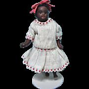 Little Dark Brown All Bisque Doll