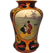 Austrian Vase with Kissing Dutch Couple