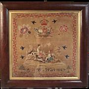 Needlework Sampler Dated 1847