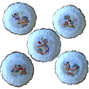 Limoges Butter Pats with Cherubs