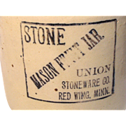 Red Wing Stoneware Fruit Jar
