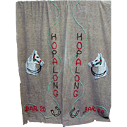 Pair of Hopalong Cassidy Chenille Drapes