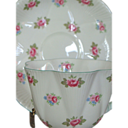 Shelley Rosebud Cup and Saucer