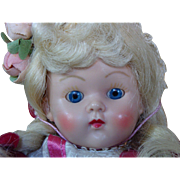 SOLD ON HOLD FOR B.--Vogue Hard Plastic Painted Lash Ginny Doll