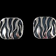 Mexican - Emilia Castillo, Sterling Silver Cast Earrings
