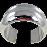Navajo - Orville Tsinnie Sterling Silver WIDE Cuff