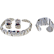 SALE Nationally Recognized Jeweler Barbara Terrell Pujol - Hand Hammered and Crimped Sterling