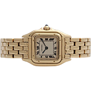 A Cartier Panthere 18K Yellow Gold Ladies Wristwatch