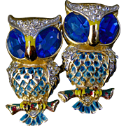 Vintage Coro Craft Owl Duette Fur Clip Pin